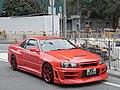 HK Yuen Long 元朗 Yuen Lung Street 元龍街 Sunday red motor car.jpg