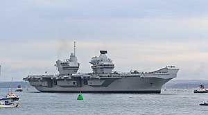 Queen Elizabeth-class aircraft carrier - Image: HMS Queen Elizabeth RO8 2