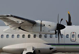 Pratt & Whitney Canada PW100 - A PW127E installed on an ATR 72-500