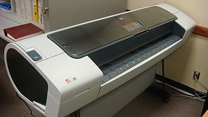 English: HP color plotter