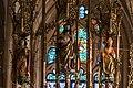 Hallstatt kath. Kirche Marienaltar Gesprenge 03.jpg
