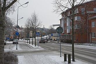 Hallstavik - Image: Hallstaviks centrum Janaruy 2012b