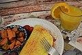 Ham & Cheddar Omelet (3) (24403025698).jpg