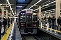 Hankyu 9000 series 9002F Local Train at Umeda Station.jpg