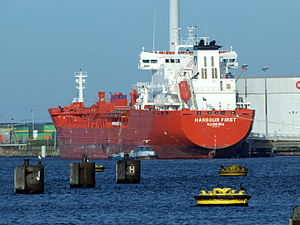 Harabour First, IMO 9473119 at Port of Amsterdam.JPG