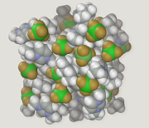 Ionic liquid - Proposed structure of an imidazolium-based ionic liquid.