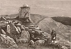Samaritans - Ruins on Mount Gerizim c. 1880.