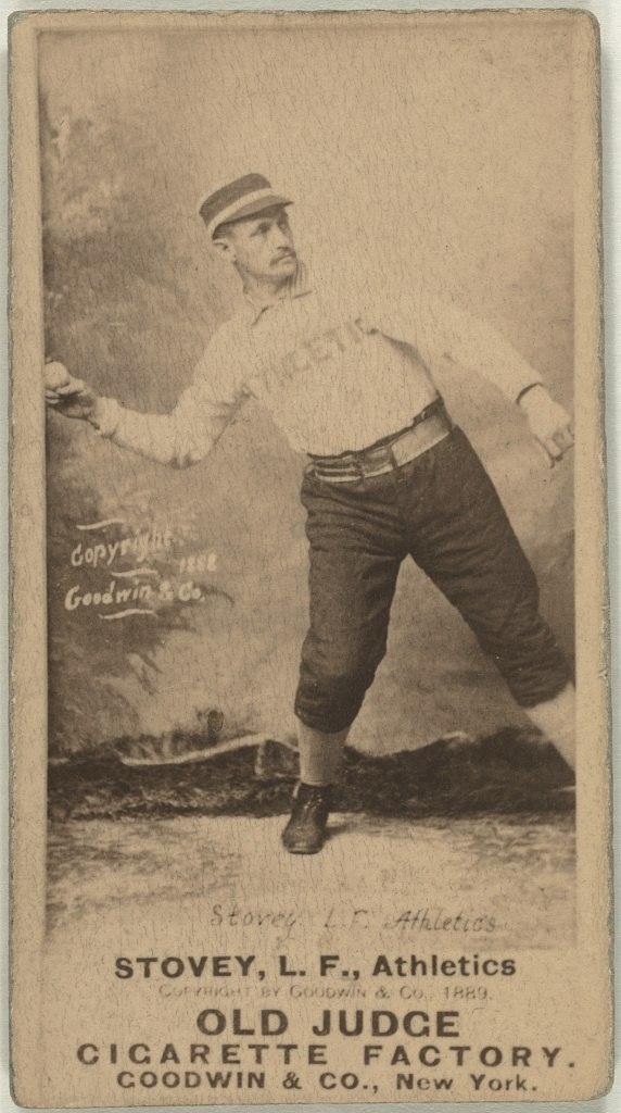 Harry Stovey, Philadelphia Athletics, baseball card portrait LCCN2008675120