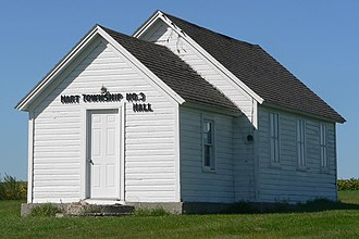 National Register of Historic Places listings in Roberts County, South Dakota - Image: Hart Township Hall from NE 2