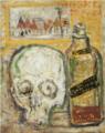 HasegawaToshiyuki-1928-Still Life with a Skull.png