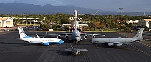 Hawaii Air National Guard - Hawaii ANG in 2010.  The C-40 Clipper, operated by the 65th Airlift Squadron (65 AS) is part of the 15th Airlift Wing at Joint Base Pearl Harbor-Hickam, Hawaii. The aircraft provides executive airlift in the Pacific theater and support for worldwide aerial transportation operations.