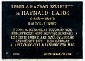 Haynald Lajos plaque (Szécsény Haynald Lajos u 4).jpg