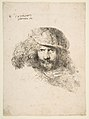 Head of a Man with a feathered Cap (Bernini?) MET DP816510.jpg