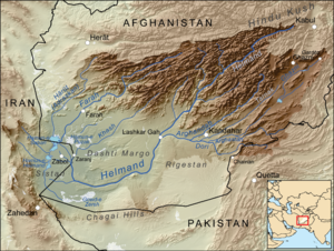 Dasht-e Margo - Dasht-e Margo, left of centre