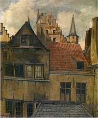 Hendrik Frans Schaefels - The Vleeshuis and old houses.jpg