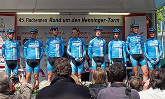 Team Milram - Rund um den Henninger-Turm (2006) 4. left: Alessandro Petacchi, right: Erik Zabel