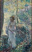 Esta joven morena se desnuda en el bosque - Pornes