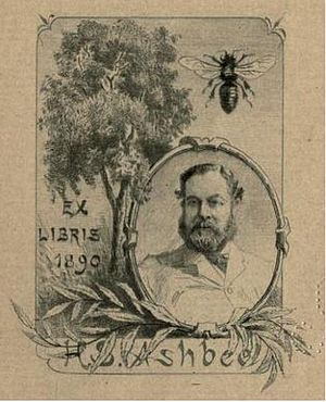 Henry Spencer Ashbee - Ashbee's book plate, designed by Paul Avril