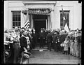 Herbert Hoover and group outside White House, Washington, D.C. LCCN2016889204.jpg