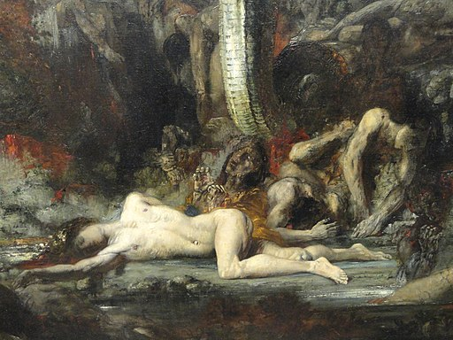 Hercules and the Lernaean Hydra, 1875-1876, by Gustave Moreau, detail - Art Institute of Chicago - DSC09595