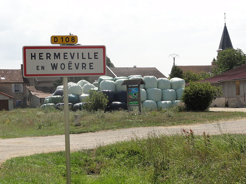 Hermeville-en-Woëvre (Meuse) city limit sign