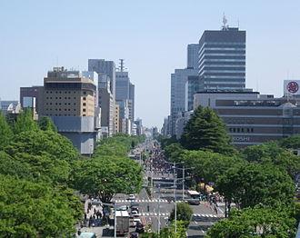 Sendai - A parade of Sendai Aoba Matsuri held on Higashi-Ni-banchō-dōri avenue (the East 2nd avenue)