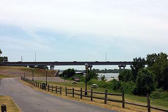 U.S. Route 64 in Arkansas - Bridge carrying US 64 over the Arkansas River in Van Buren