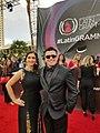 Hildemaro Alvarez junto a Adriana Contreras en la Alfombra Roja del Latin Grammy 2017.jpg