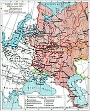 Map of the Russian Empire, 1682-1762