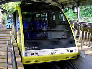 Sarakurayama Cable Car - Hobashira Cable funicular
