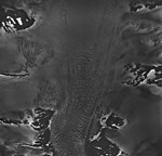 Holgate Glacier, tidewater glacier, bergschrund, and firn line, August 25, 1964 (GLACIERS 6556).jpg