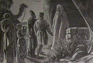 Balak (parsha) - Balaam Receiving Balak's Messengers (illustration from the 1890 Holman Bible)