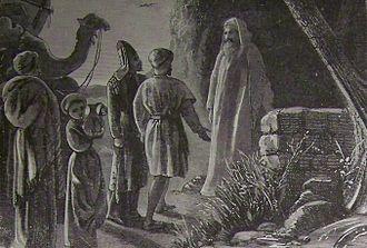 Balak (parsha) - Balaam Receiving Balak's Messengers (illustration from the 1890 Holman Bible)