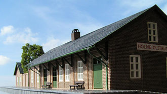 Heljan - A Heljan H0 scale model of Holme Olstrup station in Denmark