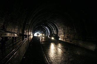 Homer Tunnel - 100 metres inside the Homer Tunnel