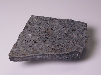 Homestead (meteorite) - Image: Homestead meteorite, crusted edge