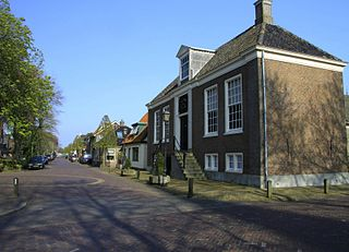 Hoogwoud Town in North Holland, Netherlands