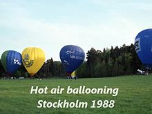 File:Hot air ballooning, set up, Stockholm 1988.webm