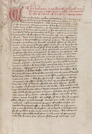 "John Lydgate - Manuscript: ""Damage and destruction in realmes"", ca. 1450, by John Lydgate"