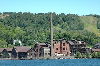 Quincy Smelter Former copper smelter in Ripley, Michigan