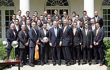 President George W. Bush and Houston Dynamo 2007 MLS Cup Champions