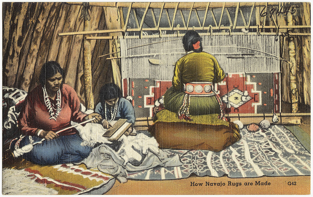 File How Navajo Rugs Are Made Jpg Wikimedia Commons