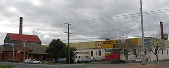 Ballarat North, Victoria - Corner of Howitt and Doveton Streets looking north, a former industrial area now an entertainment precinct.