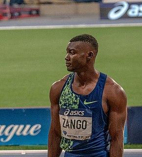 Hugues Fabrice Zango Burkinabé athlete