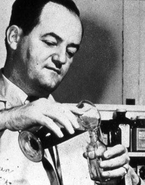 Hubert Humphrey - Humphrey working as a pharmacist in his father's pharmacy.