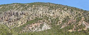 Geology of the Zion and Kolob canyons area -  Hurricane Cliffs/Kaibab Formation