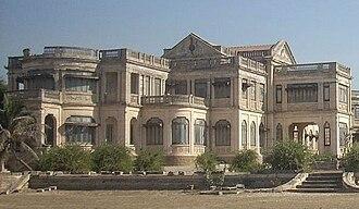 Jethwa - The Huzoor Palace standing on sea shore of Porbandar city, built by last ruler of Jethwa dynasty Maharana Natwarsinhji in the early 20th century.