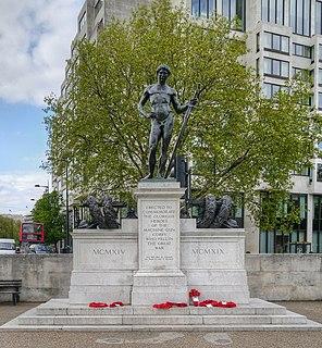 Machine Gun Corps Memorial memorial in Hyde Park Corner, London