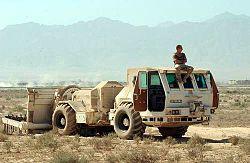 Hydrema mine cleaning vehicle