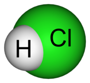 Molecular model of hydrogen chloride